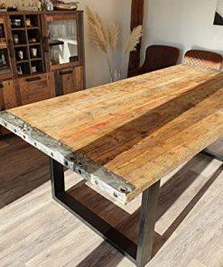 Tischplatte Holzbohlen